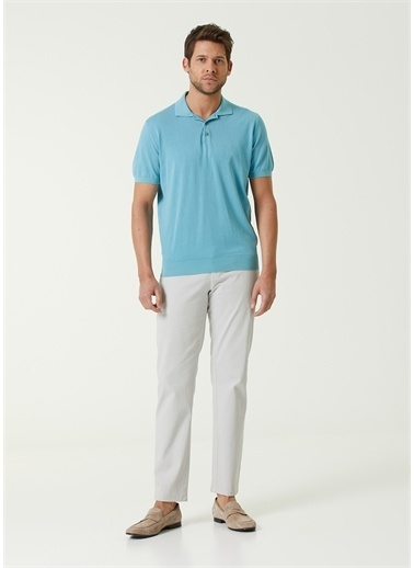 Corneliani Polo Yaka T-shirt Mavi